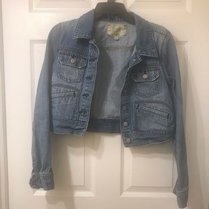 Old Navy Vintage Crop Jean Jacket